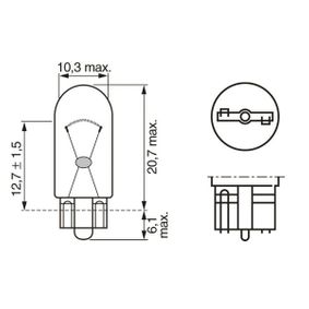 BOSCH Bulb, park- / position light 1 987 302 518