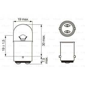 1 987 302 527 Bulb from BOSCH quality parts