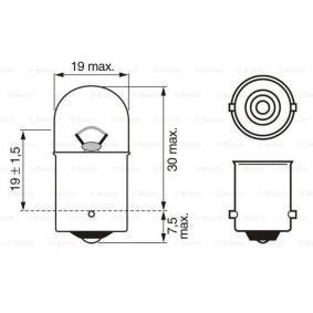 1 987 302 604 Крушка с нагреваема жичка, светлини на рег. номер от BOSCH качествени части