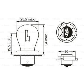 1 987 302 606 Крушка с нагреваема жичка, фар за дълги светлини от BOSCH качествени части