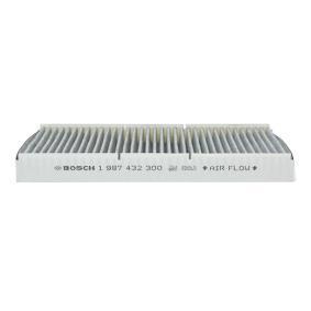 8L0091800 für VW, AUDI, SKODA, SEAT, HONDA, Filter, Innenraumluft BOSCH (1 987 432 300) Online-Shop
