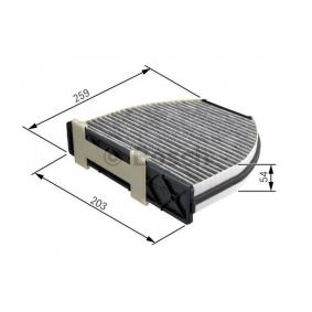 B66809901 für MERCEDES-BENZ, CHRYSLER, Filter, Innenraumluft BOSCH (1 987 432 301) Online-Shop