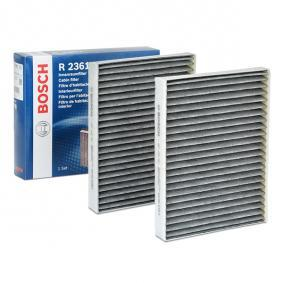 Filter, Innenraumluft BOSCH Art.No - 1 987 432 361 OEM: 64312207985 für BMW, AUDI, MAZDA, MINI, ALPINA kaufen