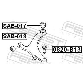 Querlenker Gummilager SAB-018 FEBEST