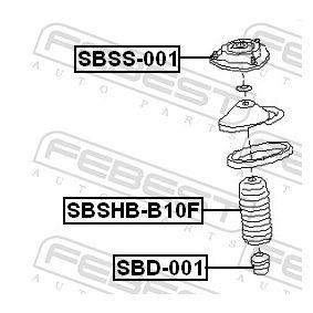 Anschlaggummi & Staubmanschette SBD-001 FEBEST