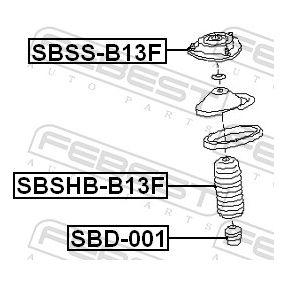 Anschlaggummi & Staubmanschette SBSHB-B13F FEBEST