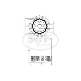 15400RAFT01 für HONDA, ACURA, Ölfilter SCT Germany (SM 104) Online-Shop