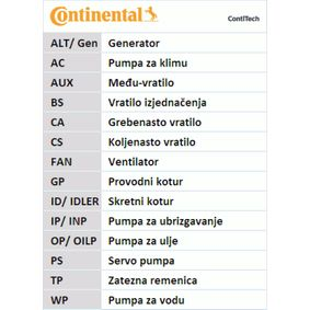CONTITECH FIAT PUNTO Timing belt kit (CT1049K1)