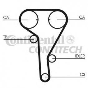 5636452 für OPEL, CHEVROLET, DAEWOO, VAUXHALL, DAF, Zahnriemen CONTITECH (CT1077) Online-Shop
