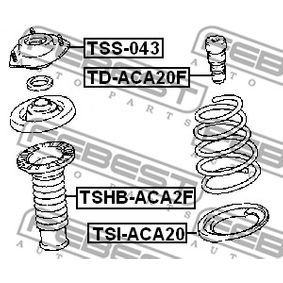 Shock absorber dust cover & Suspension bump stops TD-ACA20F FEBEST