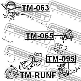 Engine mount TM-065 FEBEST