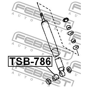 Shock absorber dust cover & Suspension bump stops TSB-786 FEBEST