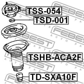 Shock absorber dust cover & Suspension bump stops TSHB-ACA2F FEBEST