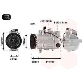 Compresor, aire acondicionado VAN WEZEL Art.No - 0300K266 obtener