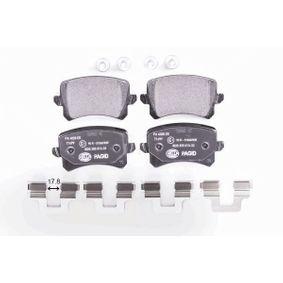 HELLA Bremsbelagsatz, Scheibenbremse 3C0698451F für VW, AUDI, SKODA, SEAT, PORSCHE bestellen