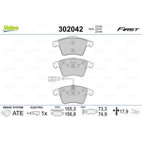 Bremsbelagsatz, Scheibenbremse VALEO Art.No - 302042 kaufen