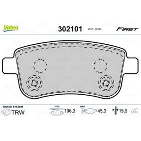 VALEO Brake pad set (302101)