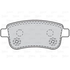 VALEO RENAULT MEGANE Brake pads (302101)