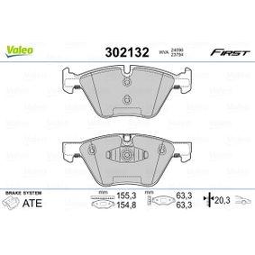 Bremsbelagsatz, Scheibenbremse VALEO Art.No - 302132 OEM: 34116777772 für BMW, ALPINA kaufen