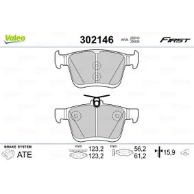 Bremsbeläge VALEO (302146) für VW GOLF Preise