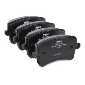 VALEO Bremsbelagsatz, Scheibenbremse 8K0698451E für VW, AUDI, SKODA, SEAT bestellen