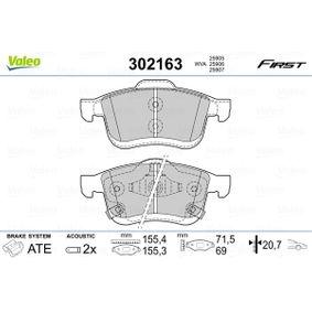 Bremsbelagsatz, Scheibenbremse VALEO Art.No - 302163 OEM: 77366915 für FIAT, ALFA ROMEO, LANCIA kaufen
