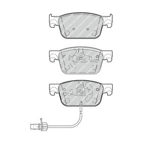 FERODO Bremsbelagsatz, Scheibenbremse FDB4871