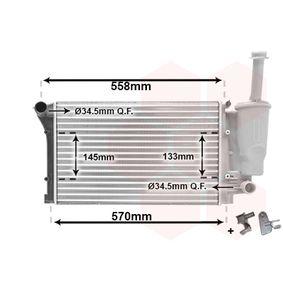 VAN WEZEL Radiator engine cooling 17002291