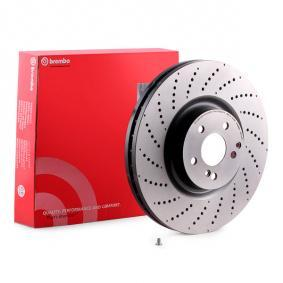 Buy Brake discs for MERCEDES-BENZ C-Class Saloon (W204) C 63 AMG