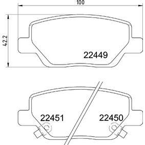 BREMBO FIAT TIPO Bremsbeläge (P 23 179)