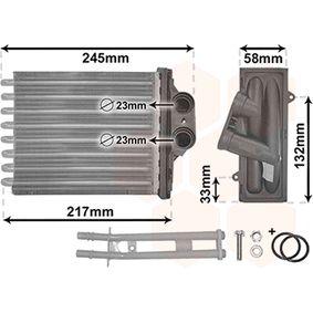 VAN WEZEL Heater matrix 17006304