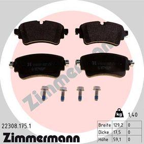 ZIMMERMANN Kit de plaquettes de frein, frein à disque 22308.175.1