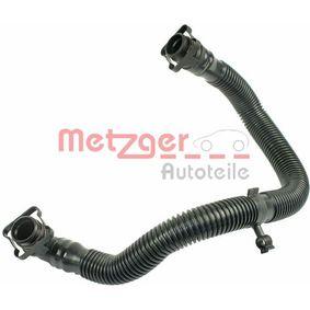 Schlauch, Kurbelgehäuseentlüftung METZGER Art.No - 2380047 OEM: 06F103235 für VW, AUDI, SKODA, SEAT kaufen