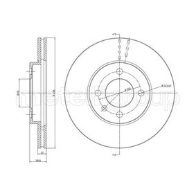 Bremsscheibe METELLI Art.No - 23-0230C OEM: 321615301D für VW, AUDI, FORD, FIAT, SKODA kaufen