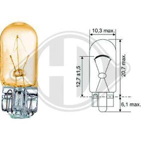 DIEDERICHS FIAT PUNTO Number plate light bulb (LID10079)