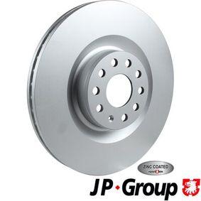 Спирачен диск JP GROUP Art.No - 1163101300 OEM: 1K0615301AB за VW, AUDI, SKODA, SEAT купете
