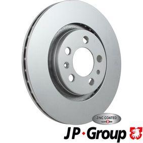 Bremsscheibe JP GROUP Art.No - 1163109200 OEM: 1J0615301P für VW, AUDI, SKODA, SEAT, PORSCHE kaufen