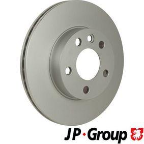 Bremsscheibe JP GROUP Art.No - 1163111500 OEM: 7D0615301A für VW, AUDI, SKODA, SEAT, PORSCHE kaufen