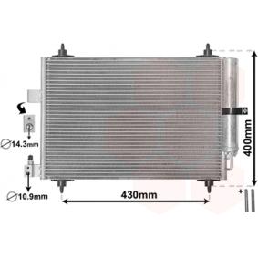 VAN WEZEL Kondensator, Klimaanlage 40005286