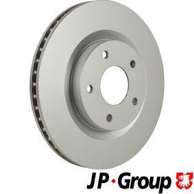 Bremsscheibe JP GROUP Art.No - 4363101300 OEM: 40206JD00A für RENAULT, NISSAN, INFINITI kaufen
