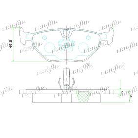 FRIGAIR Bremsbelagsatz, Scheibenbremse 34211164501 für BMW, CITROЁN, MINI, ROVER, MG bestellen