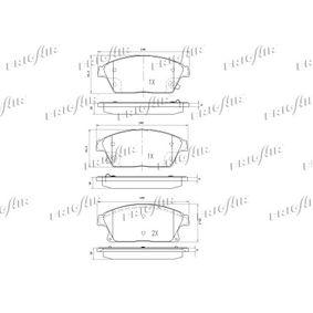 FRIGAIR Bremsbelagsatz, Scheibenbremse 95516193 für OPEL, CHEVROLET, DAEWOO, VAUXHALL bestellen