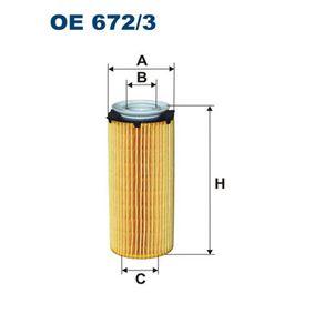 FILTRON Peças: Filtro de óleo OE672/3