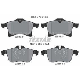 TEXTAR Bremsbelagsatz, Scheibenbremse (2383201) niedriger Preis