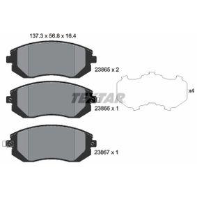 TEXTAR Bremsbelagsatz Scheibenbremse (2386501)