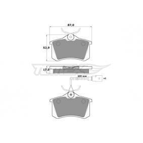 TOMEX brakes Bromsbeläggssats, skivbroms 7M3698451A för VW, AUDI, SKODA, SEAT köp