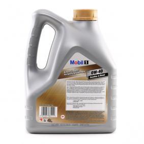 FIAT Punto II Hatchback (188) 1.2 16V 80 (188.233, .235, .253, .255, .333, .353, .639,... 80 1999, Motor oil MOBIL Art. Nr.: 153687 online