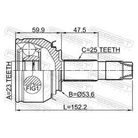FEBEST Gelenksatz, Antriebswelle 1603036 für OPEL bestellen