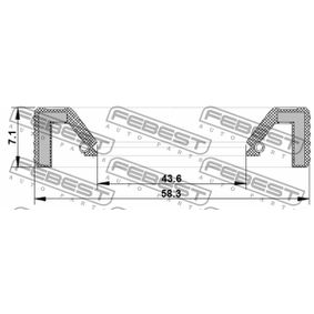 Wellendichtring, Schaltgetriebe 95KAY-45580707R FEBEST