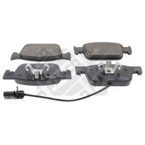 Kit de plaquettes de frein, frein à disque MAPCO Art.No - 6691 OEM: 8W0698151Q pour VOLKSWAGEN, AUDI, SEAT, SKODA récuperer